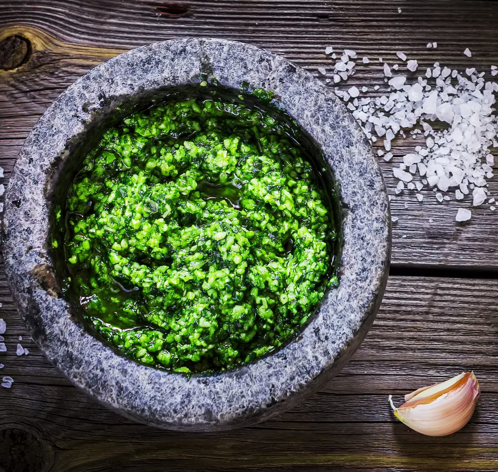 Making the mundane magical: Spirulina Pesto